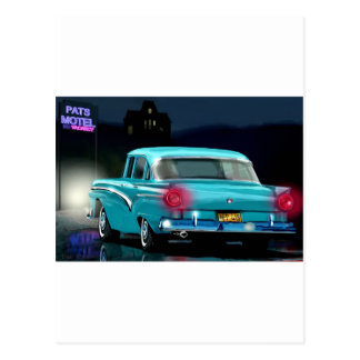 Classic American 50'S Style Automobile. Postcards