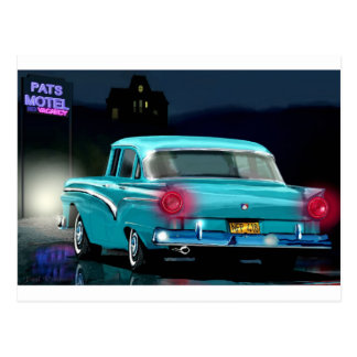 Classic American 50'S Style Automobile. Post Cards