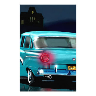 Classic American 50'S Style Automobile. Stationery