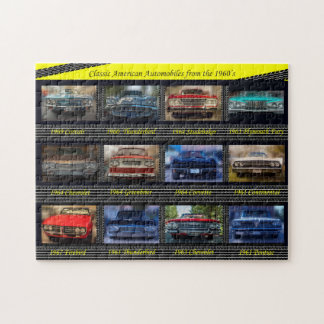 Classic American Automobiles from the 1960's. Jigsaw Puzzle
