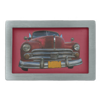 Classic American car in Vinales, Cuba Belt Buckle