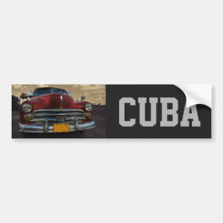 Classic American car in Vinales, Cuba Car Bumper Sticker