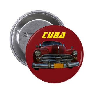 Classic American car in Vinales, Cuba Pinback Button