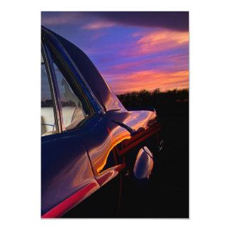 """Classic American Car Invitation 5"""" X 7"""" Invitation Card"""