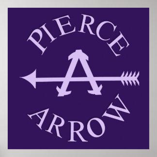 Classic American car logo Pierce Arrow square Print