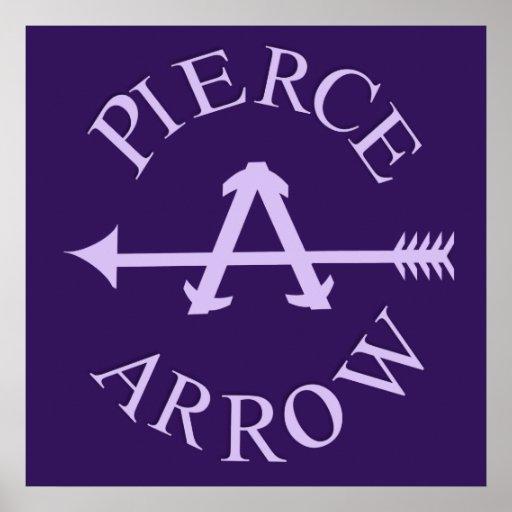 Classic american car logo pierce arrow square poster zazzle for American classic logo
