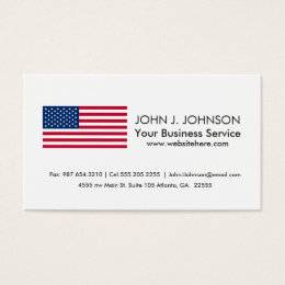 Classic American Flag Business Card