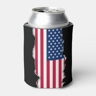Classic American Flag Can Cooler