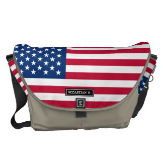 Classic American Flag Courier Bag