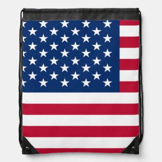Classic American Flag Drawstring Bag