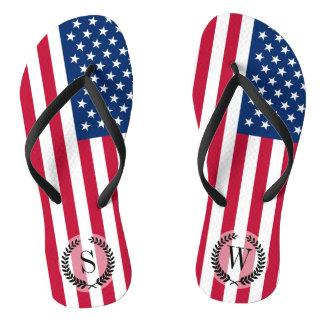 Classic American Flag Flip Flops