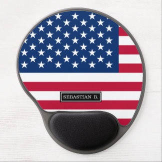 Classic American Flag Gel Mouse Pad
