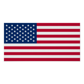 Classic American Flag Poster