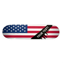 Classic American Flag Skateboard Deck
