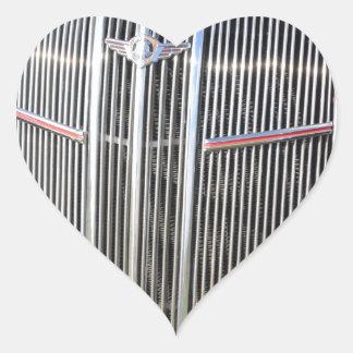Classic American Grille Heart Sticker