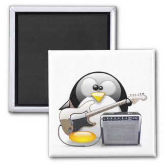 Classic American Guitar and Amplifier Tux 2 Inch Square Magnet