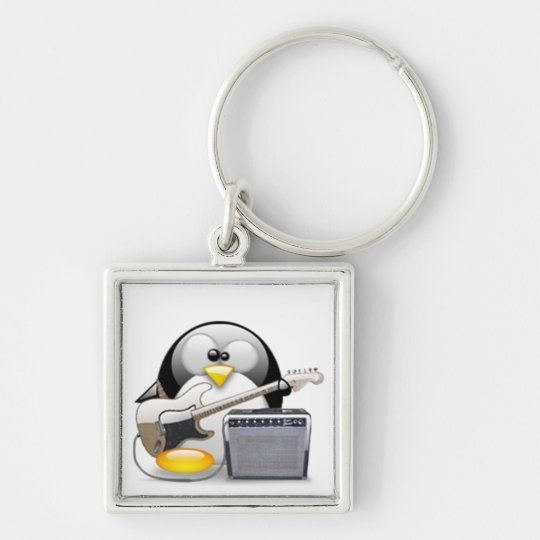 Classic American Guitar and Amplifier Tux Keychain