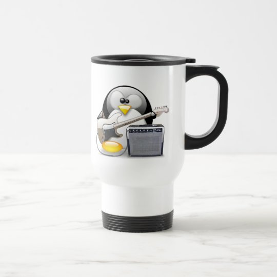 Classic American Guitar and Amplifier Tux Travel Mug