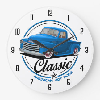 Classic American Hot Rods Large Clock