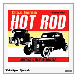 Classic American Hot-Rods original design Wall Decal