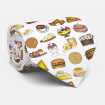 Classic American Lunch Counter Greasy Spoon Diner Neck Tie