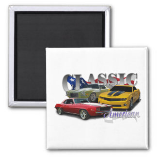 Classic American 2 Inch Square Magnet