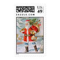 Classic American Santa Conde Nast Postcard Stamp