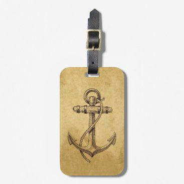 Classic Anchor Luggage Tag
