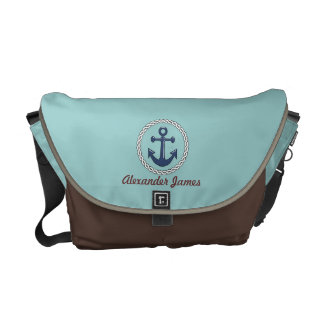 Classic Anchor with Name Personalized Courier Bag
