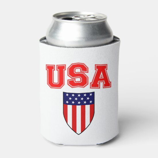 Classic and Cool U.S.A American Flag Patriotic Can Cooler