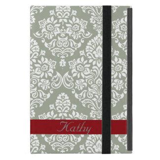 Classic and Elegant Royal Damask pattern Monogram Cover For iPad Mini