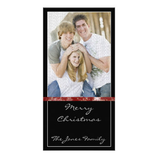 Classic and Modern Christmas Photocard Card