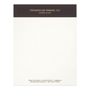 Classic And Professional Brown Letterhead at Zazzle