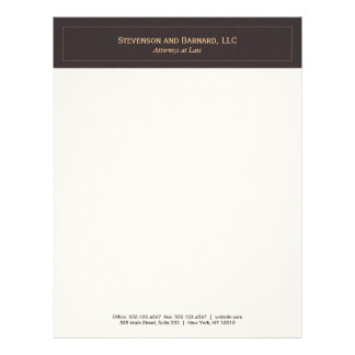 Classic and Professional Brown Letterhead