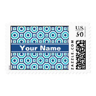 Classic and Scuba Blues Nested Octagon Postage