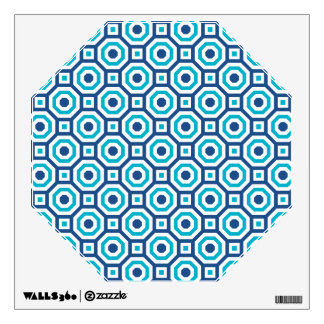 Classic and Scuba Blues Nested Octagon Wall Decal