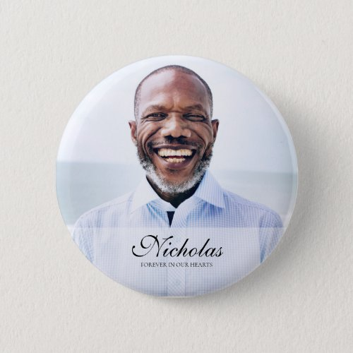 Classic and Simple Photo Memorial Button