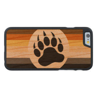 Classic and Stylish Bear Pride Flag and Bear Paw Carved® Cherry iPhone 6 Case