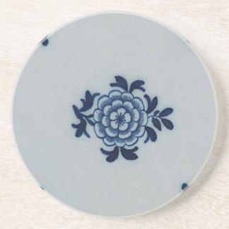 Classic Antiquarian Delft Blue Tile - Floral Motif Coaster