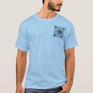 Classic Antiquarian Delft Blue Tile - Floral Motif T-Shirt