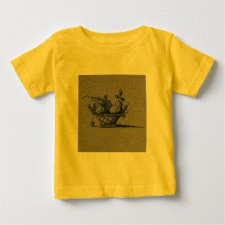 Classic Antiquarian Delft Blue Tile - Fruit Basket Baby T-Shirt