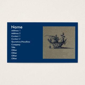 Classic Antiquarian Delft Blue Tile - Fruit Basket Business Card