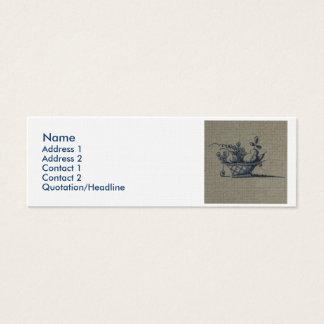 Classic Antiquarian Delft Blue Tile - Fruit Basket Mini Business Card