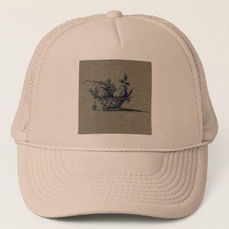Classic Antiquarian Delft Blue Tile - Fruit Basket Trucker Hat
