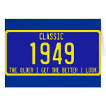 CLASSIC / ANTIQUE LICENSE PLATE BIRTHDAY PARODY GREETING CARD