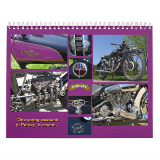 Classic Antique Motorcycles Calendar