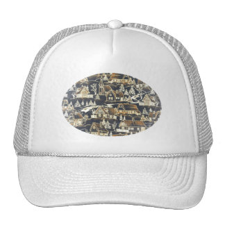 Classic Antique Vintage Cute Gold Xmas Holiday Trucker Hat