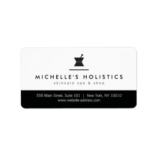 Classic Apothecary Holistic Medicine Address Label