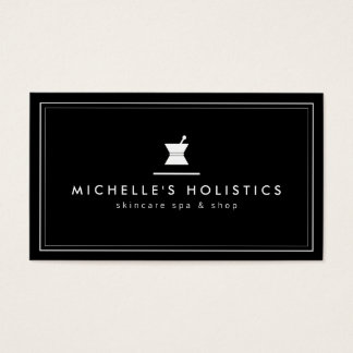 Classic Apothecary Holistic Medicine Black Business Card