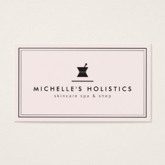 Classic Apothecary Holistic Medicine Pale Pink Business Card